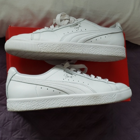 buy popular 25147 f9bb9 Puma Clyde Core Foil White Sneakers